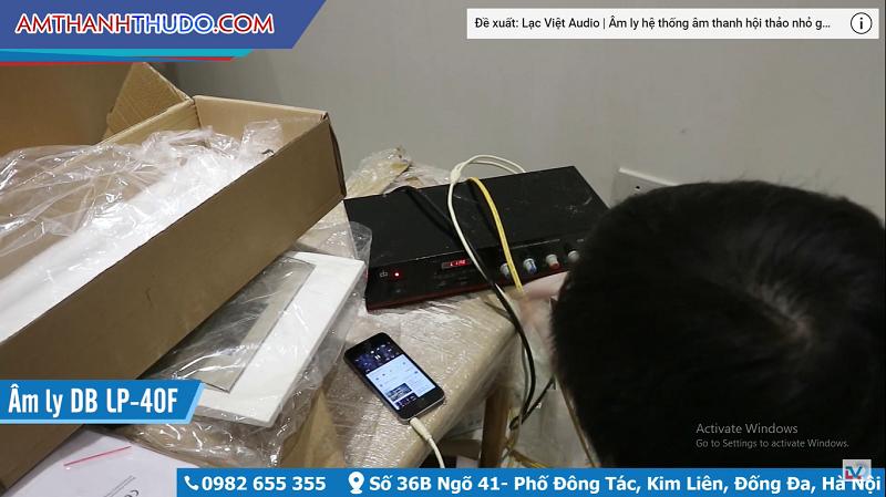 Đấu dây loa với amply sau đó thử lại các thiết bị