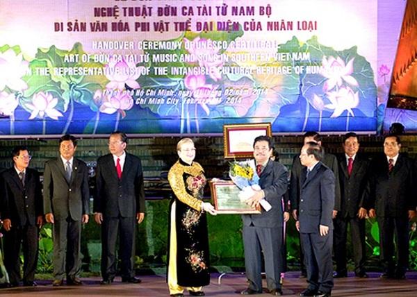 đờn ca tài tử được UNESCO công nhận năm 2013