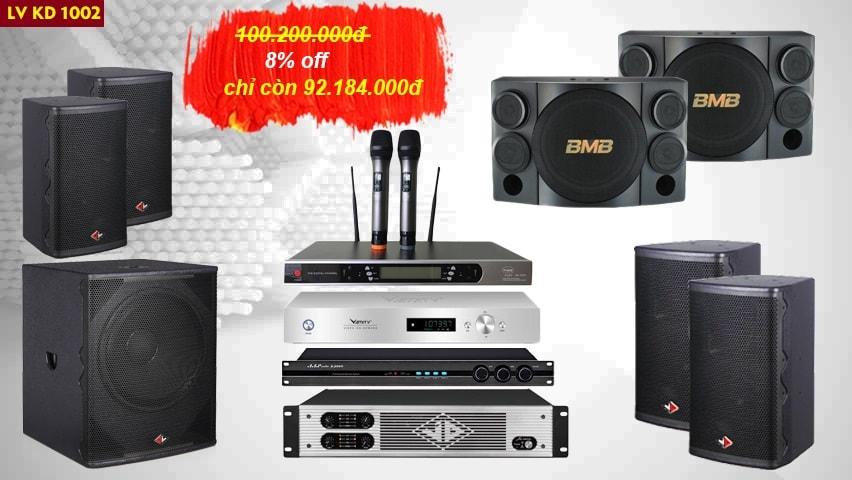 Bộ dàn karaoke kinh doanh LV KD1002