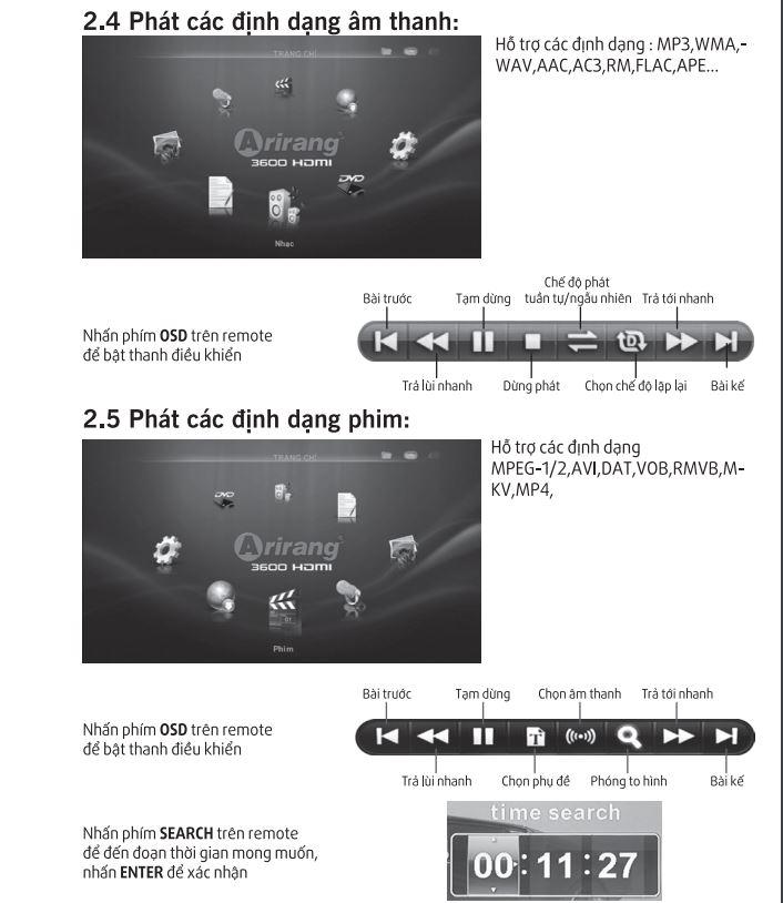 Hướng dẫn sử dụng phần định dạng âm thanh