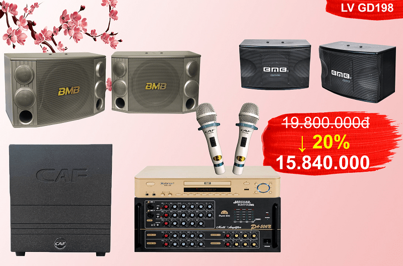 Bộ dàn karaoke gia đình GD-198 giá rẻ chất lượng cao