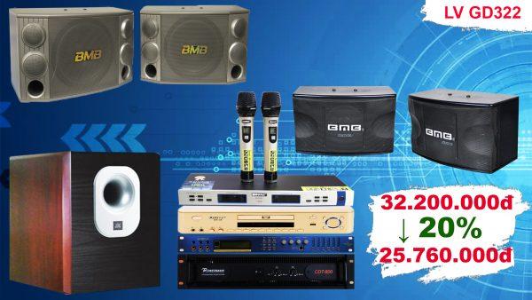 Bộ Dàn Karaoke Cao Cấp LV GD322