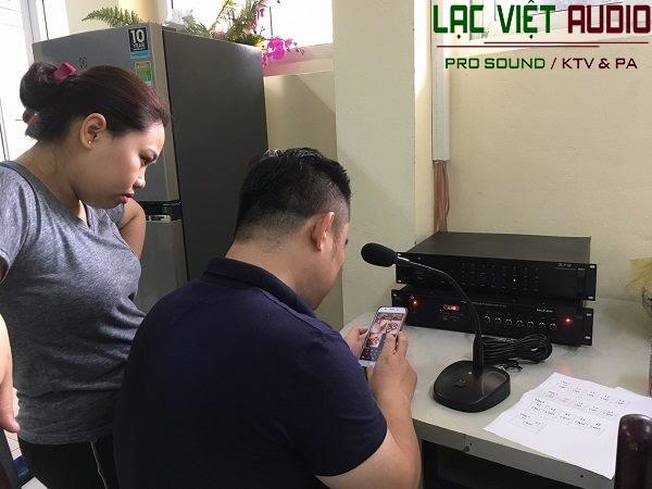 Dự án âm thanh thông báo cho trường THCS Tây Sơn