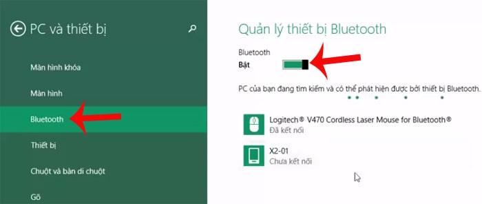 Cách kết nối bluetooth laptop với loabluetooth win 8