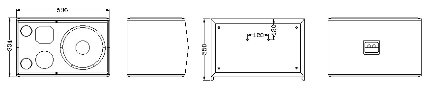 Sơ đồ các bộ phận bên trong của loa CAF A-100