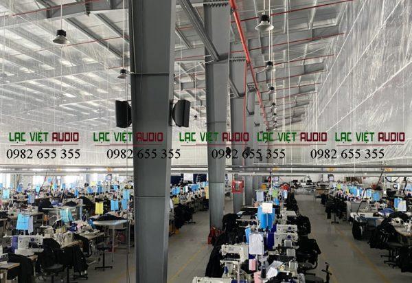 Dự án âm thanh nhà xưởng 20.000m2 thực tế