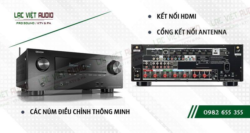Thiết kế bên ngoài của sản phẩm Amply Denon AVR X2500HBKE2