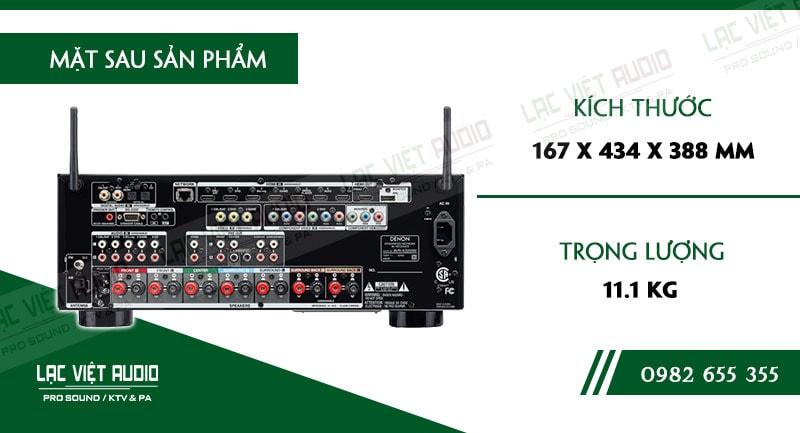 Thiết kế bên ngoài của sản phẩm Amply Denon AVR X3200W