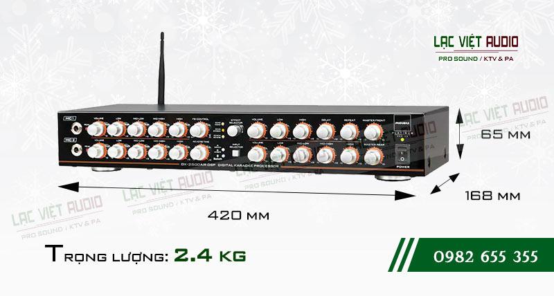 Amply paramax DX 2500 AIR DSP kích thước