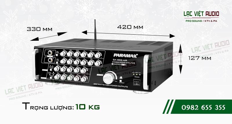 Amply paramax SA 888 AIR NEW kích thước