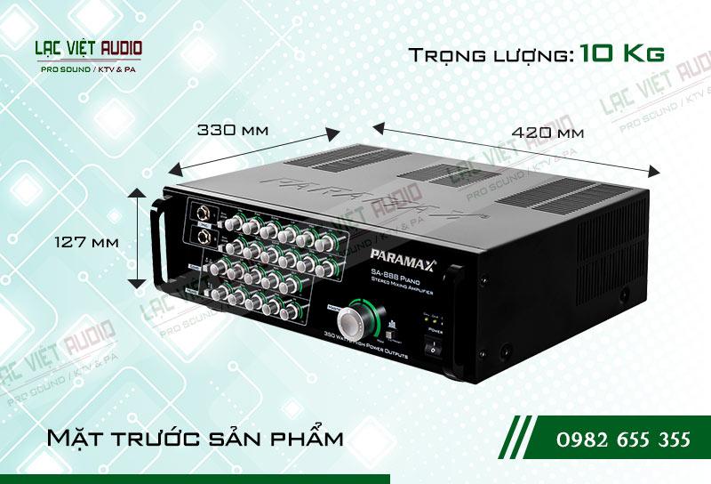 Amply paramax SA 888 PIANO NEW kích thước