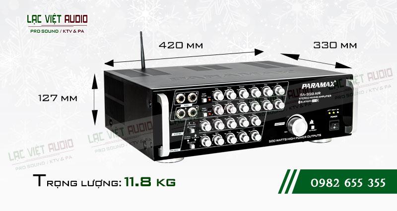 Amply paramax SA 999 AIR NEW kích thước