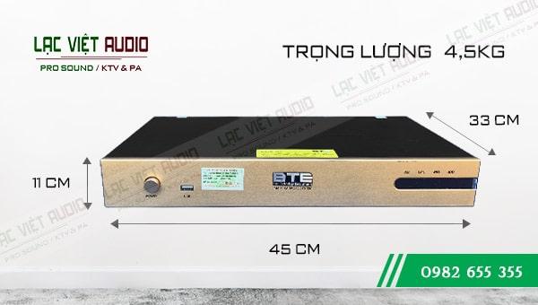 Đầu karaoke BTE S650 kích thước