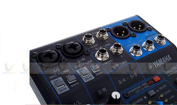 Các thông số kỹ thuật củaMixer Yamaha mini MG06X