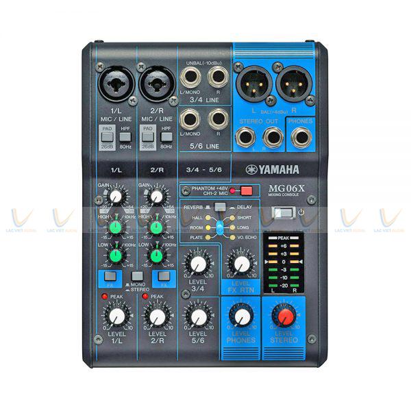 Toàn bộ chức năng của Bàn Mixer Yamaha mini MG06X