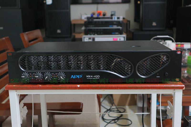 Cục đẩy 4 kênh công suất lớn tốt thứ 2 APP MX4 - 420