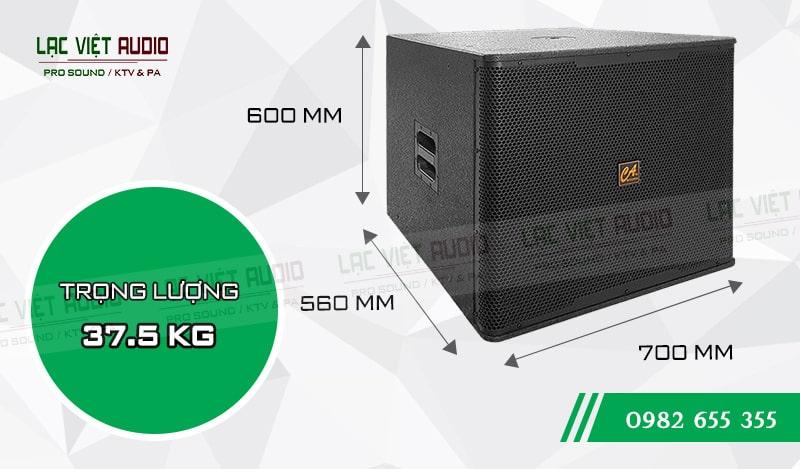 Loa Sub CA Sound S 118 thiết kế hợp lý