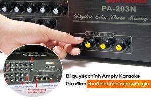 Cách chỉnh Amply trong dàn Karaoke gia đình