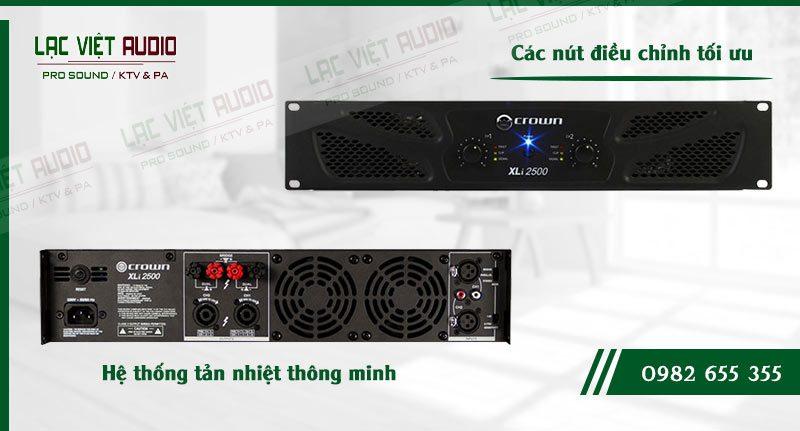 Tính năng cao cấp của cục đẩy công suất Crown XLI 2500