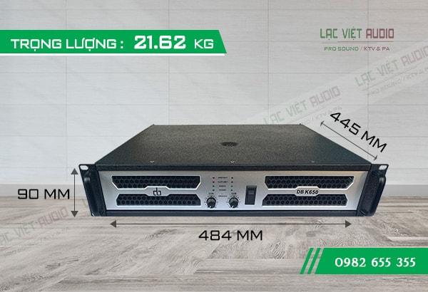 Cục đẩy DB K650 kích thước