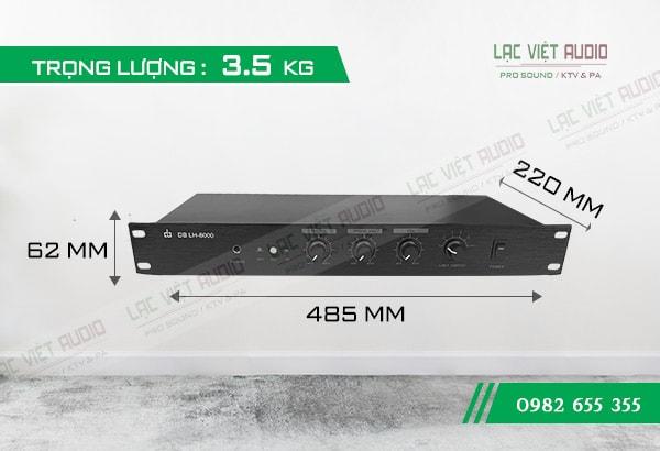 Amply trung tâm DB LH-8000 kích thước