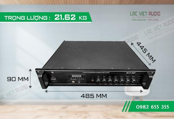 Amply DB LP 1000F kích thước