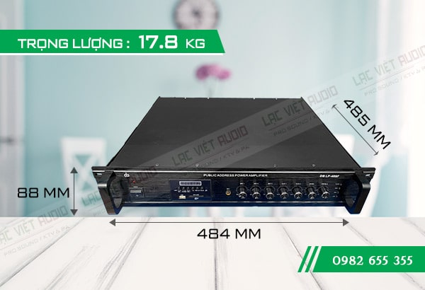 Amply DB LP-480F kích thước