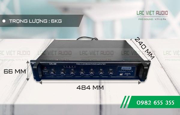 Amply DB LP-60F kích thước