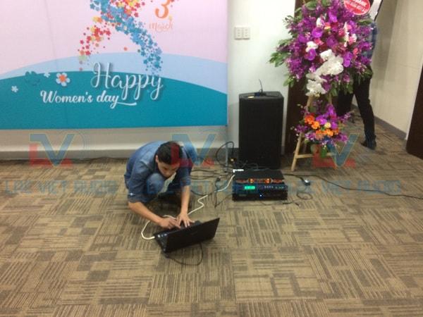 Dàn âm thanh cho ngân hàng An Bình được set up bằng vang số X6
