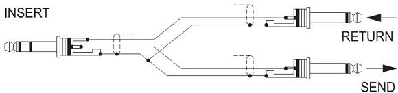 Đường Insert của bàn mixer Dynacord CMS 1000
