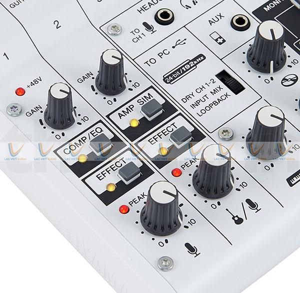 Effect của Mixer Yamaha AG06