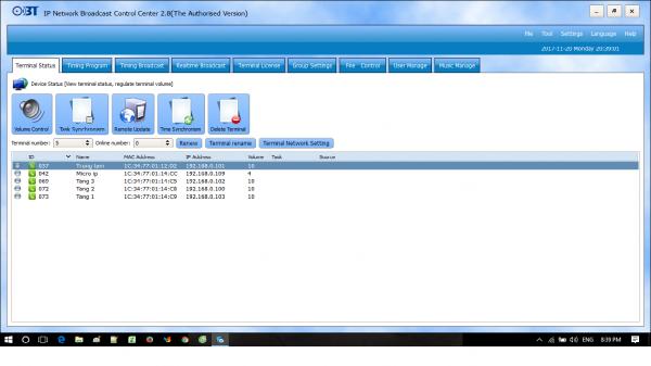 Hình ảnh giao diện phần mềm 9800
