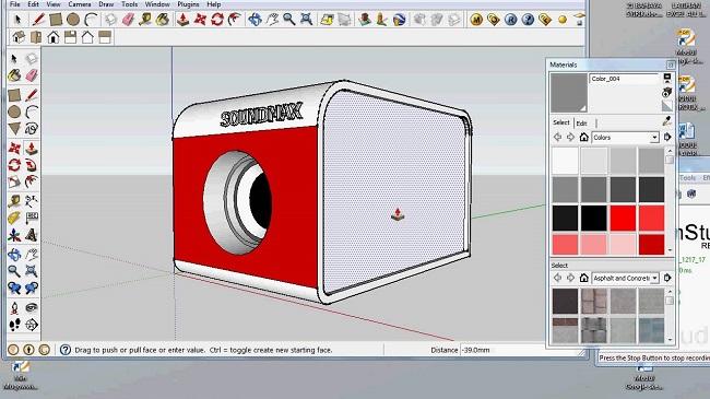 Hình ảnh sản phẩm sau khi được Phần mềm thiết kế thùng loa SketchUp tạo ra