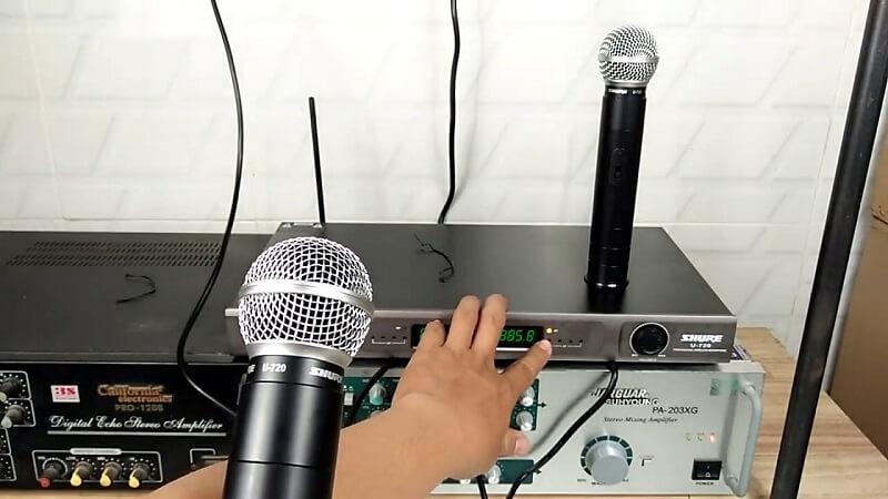 Hướng dẫn sử dụng micro không dây Shure