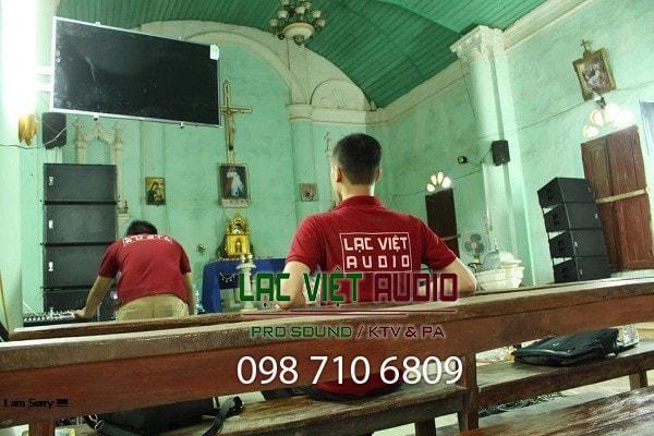 Dàn loa array cao cấp do Lạc Việt Audio lắp đặt