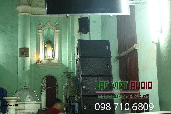 Chi tiết 4 loa array đẳng cấp cao của Lạc Việt Audio lắp đặt