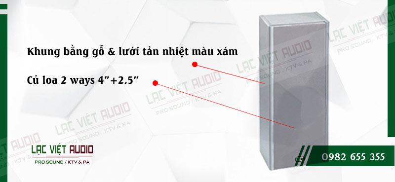 Loa cột ITC T 301 có khung gỗ đẹp mắt và tạo âm thanh hay cho sản phẩm
