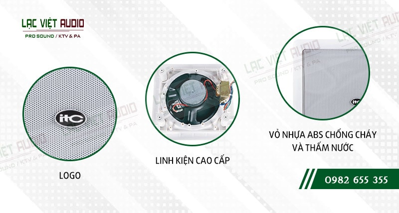 Thiết kế bên ngoài của sản phẩm Loa gắn tường ITC T552R