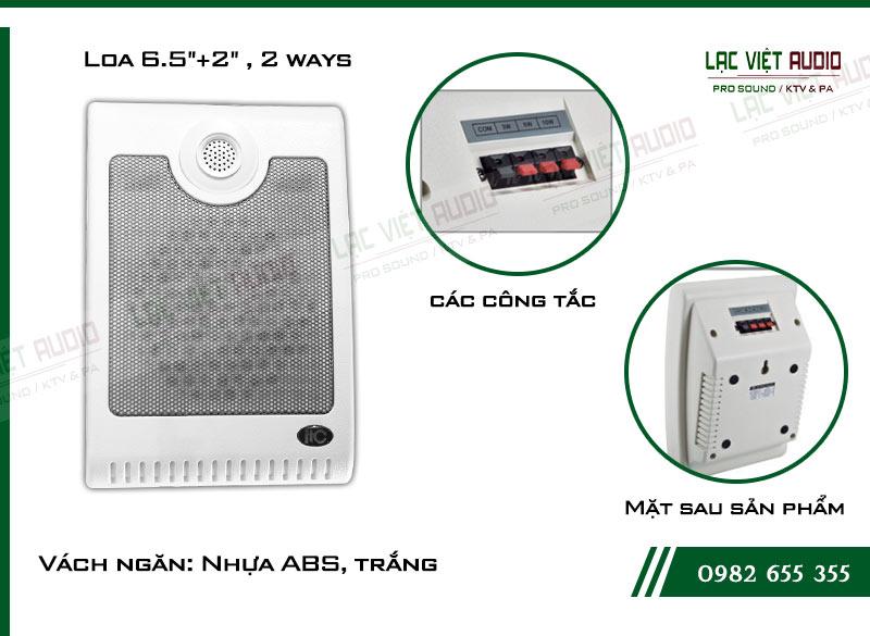 Các đặc điểm nổi bật của thiết bị Loa gắn tường ITC T601