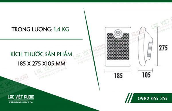 Các thiết kế bên ngoài của sản phẩm Loa gắn tường ITC T601