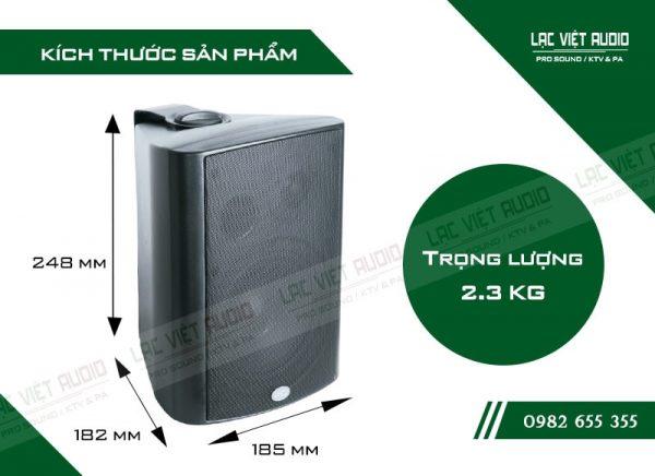 Thiết kế bên ngoài hiện đại và sang trọng của thiết bị Loa gắn tường ITC T775