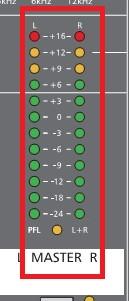 Đường Master trên bàn mixer Dynacord CMS 1000