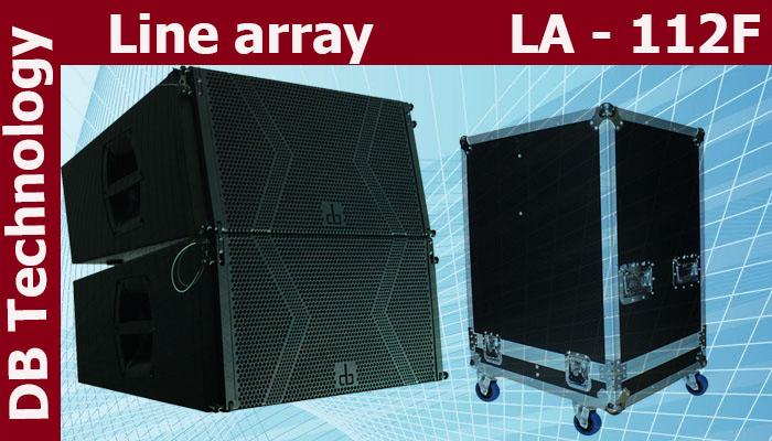 1 cặp loa array DB LA112F đi cùng với 1 hộp được