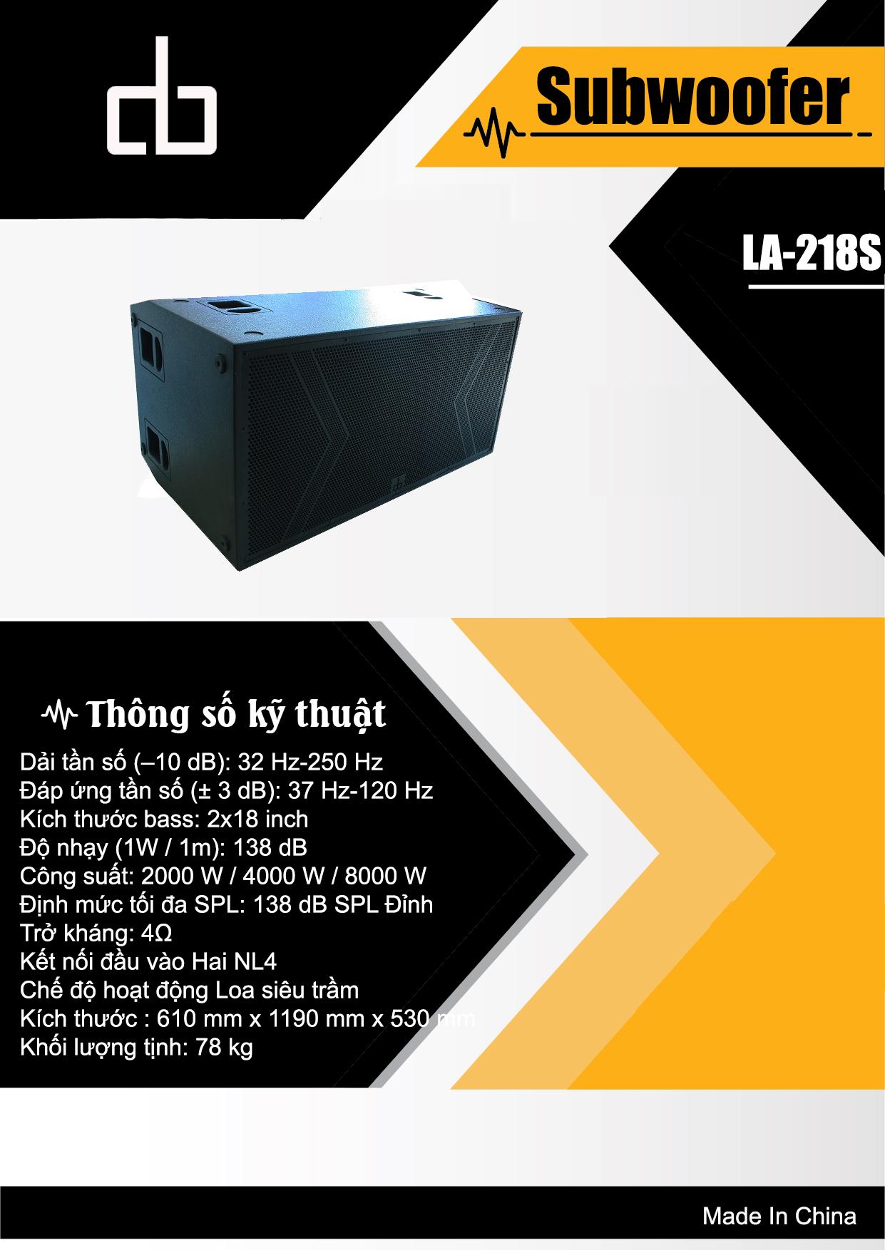 LA-218S Catalog