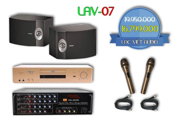 Bộ dàn karaoke gia đình LAV-07 chất lượng vượt trội