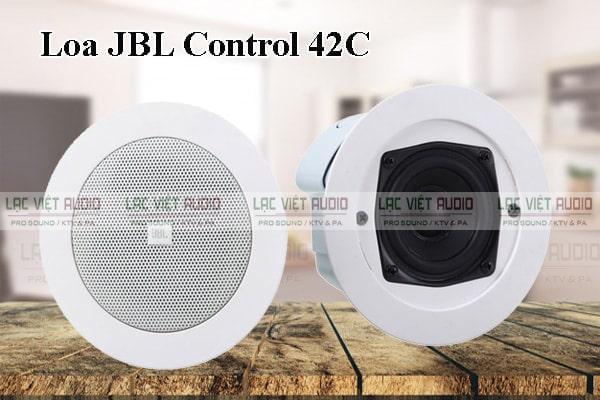 Loa âm trần JBL Control 42C có kiểu dáng thiết kế hiện đại cùng khả năng tái tạo âm thanh hoàn hảo