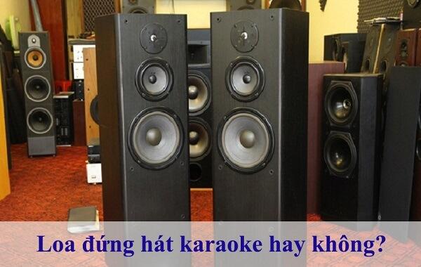 Loa đứng hát karaoke có hay không?