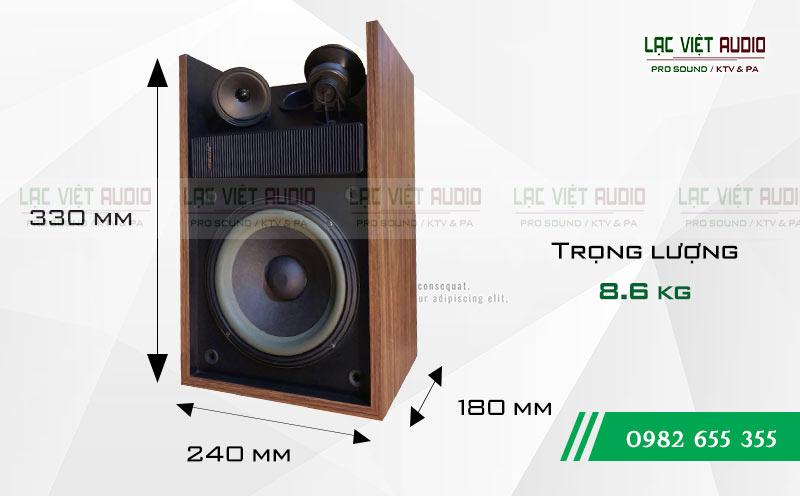 Loa Bose 301 seri II kích thước