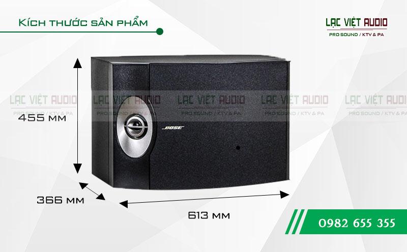 Loa karaoke Bose 301 seri V kích thước