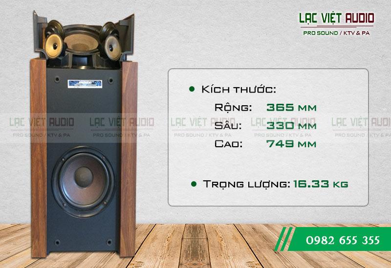 Loa Bose 601 seri II kích thước